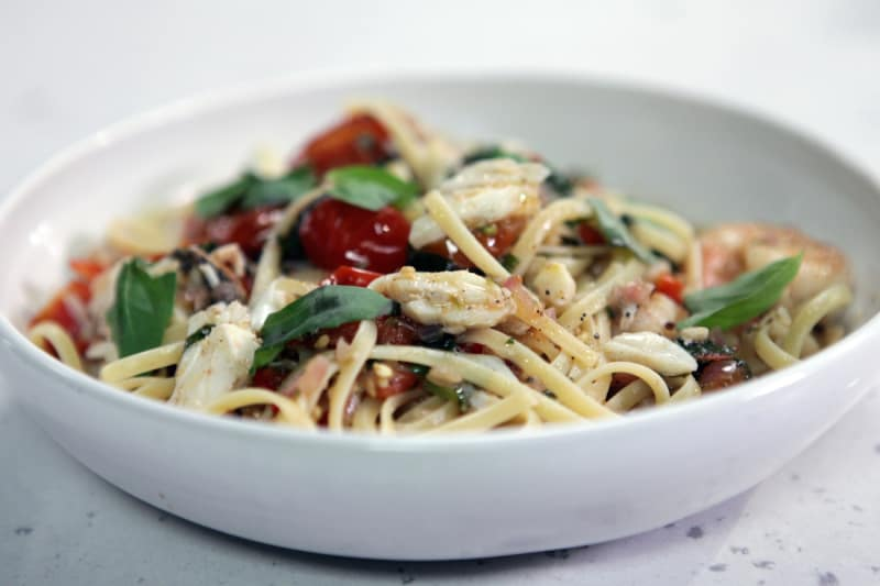 Tonight's Recipe: Shrimp and Brie Linguine