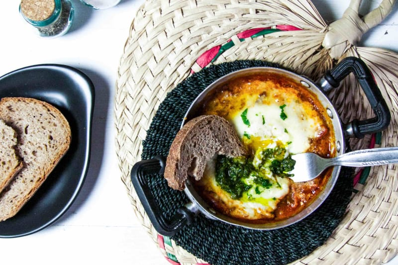 Italian Baked Egg Brunch Recipe