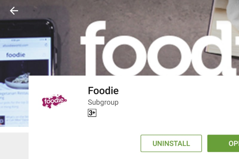 Foodie Android App