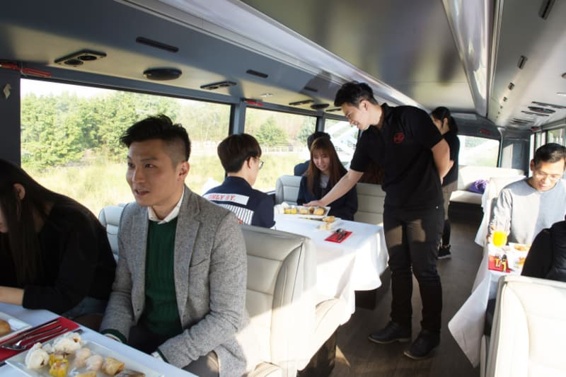 Hong Kong's First Sightseeing Bus Restaurant Hits the Ground