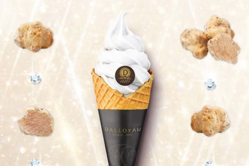 White Truffle Soft-Serve Ice Cream at DALLOYAU