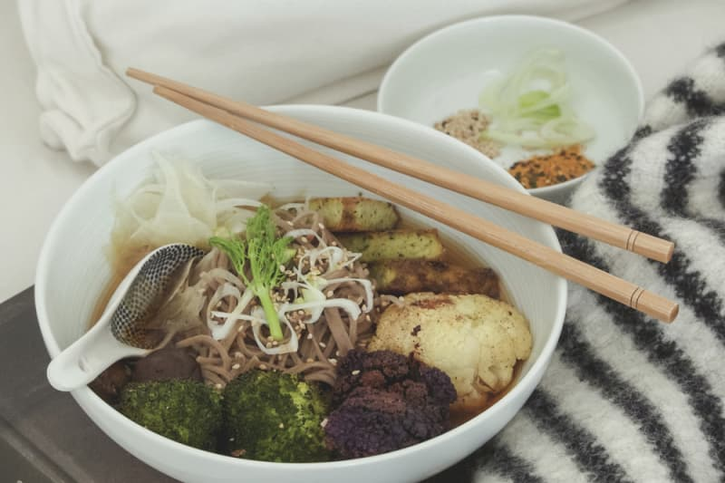 Recipe: Soba Noodles in Gingery Fennel Kombu Broth