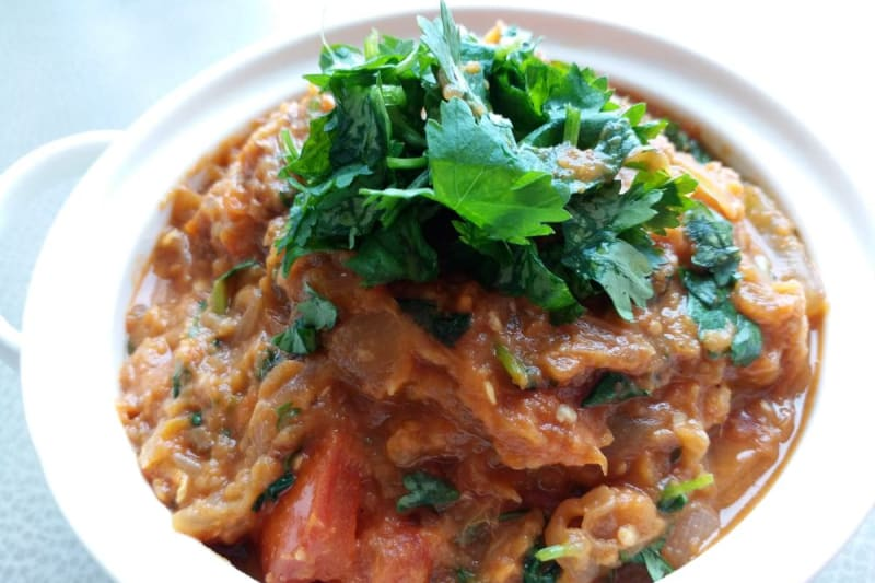 Indian Vegan Delights Recipe: Baingan Bharta