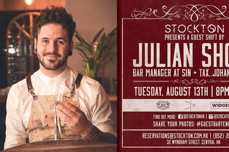 Guest Bartender Julian Short (Sin + Tax, Johannesburg) pops up in Hong Kong