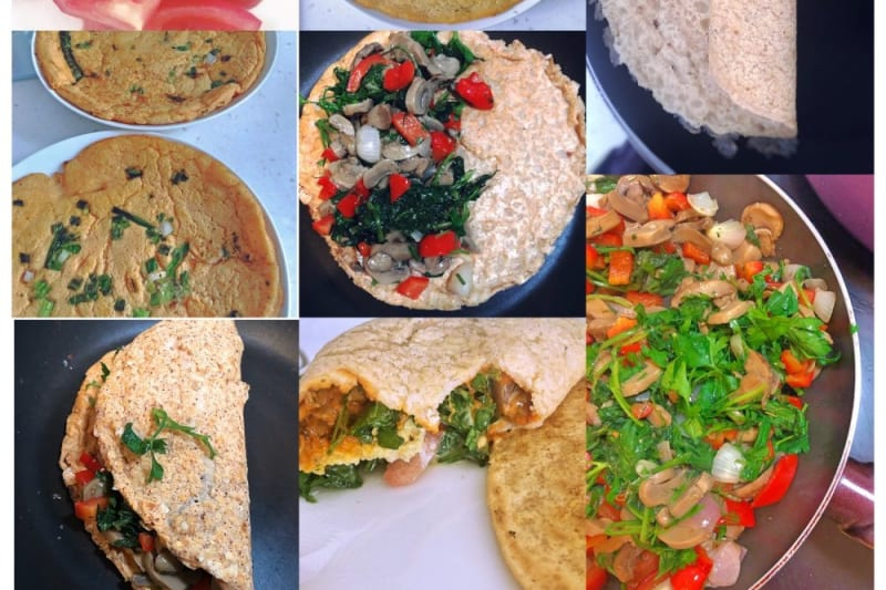 Recipe: Vegan One-Ingredient Omelette Wrap