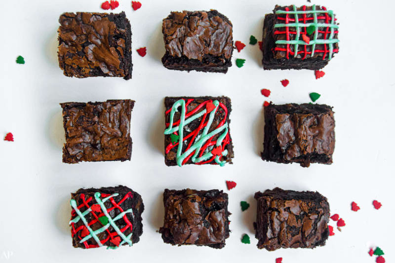 12 Days of Christmas Cookies: Baileys Chestnut Brownies