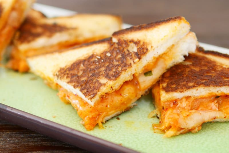 Recipe for Kimchi Grilled Cheese and Kimchi Carbonara