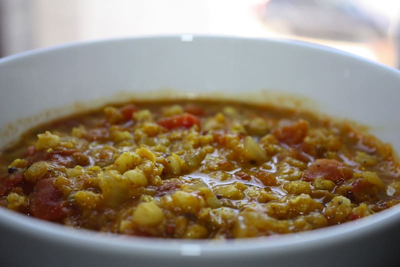 Vegan Curried Tomato and Lentil Stew