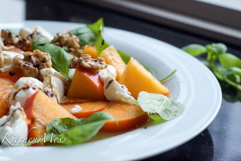 Persimmon Caprese Salad Recipe