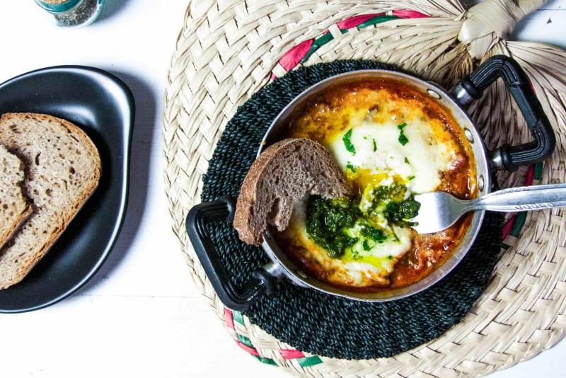 Italian Baked Egg Brunch Recipe