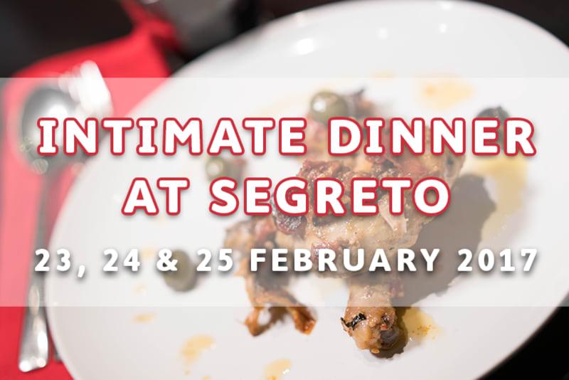 Intimate Dinner at Segreto Italian Private Kitchen