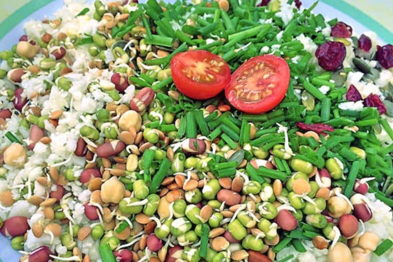 "Recipe: Raw Cauliflower ""Rice"" Salad"