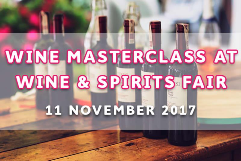 Wine Masterclass at HKTDC Hong Kong International Wine & Spirits Fair
