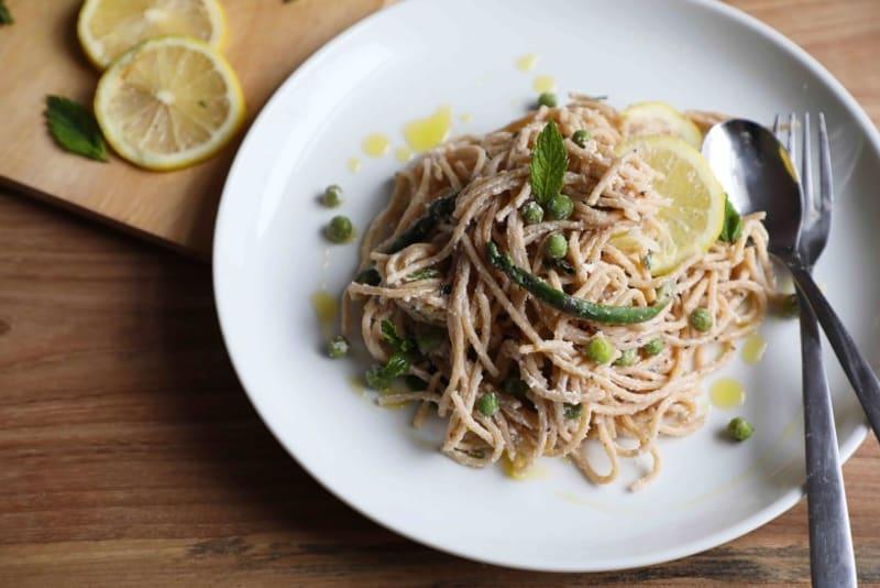 Recipe: Spaghetti with Lemon, Asparagus & Ricotta