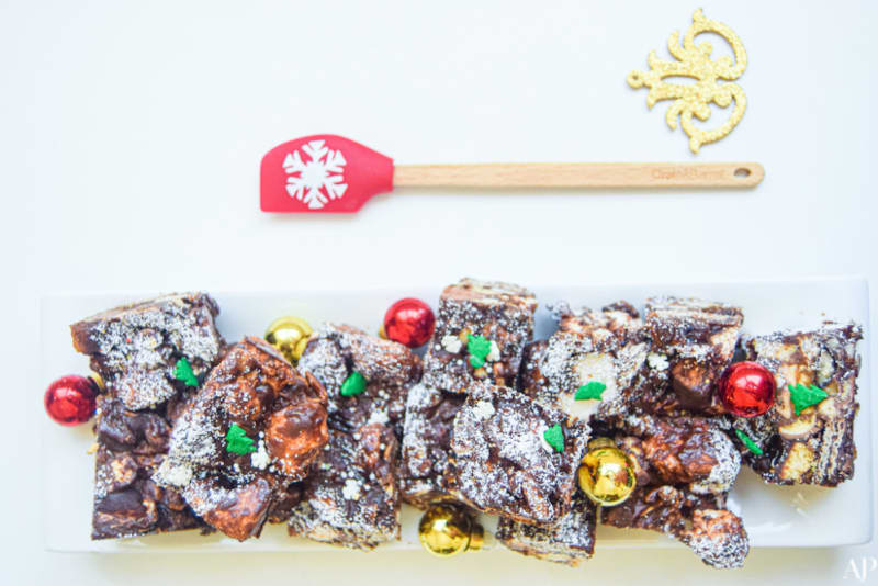 12 Days of Christmas Cookies: North Pole Rocky Road