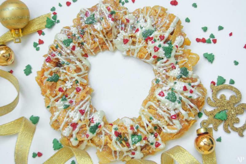 12 Days of Christmas Cookies: Christmas Cornflakes Wreath