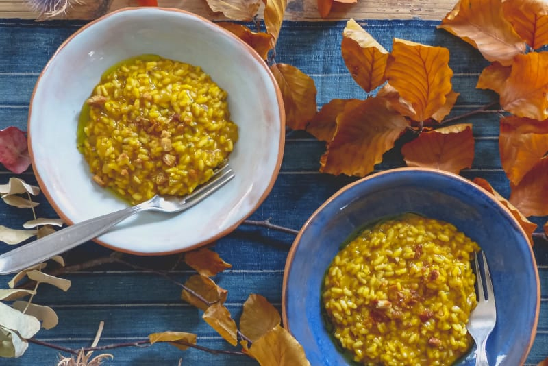 Recipe: Roasted Pumpkin with Sage Pesto Risotto