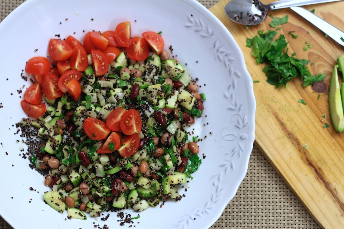 Black Quinoa and Bean Salad