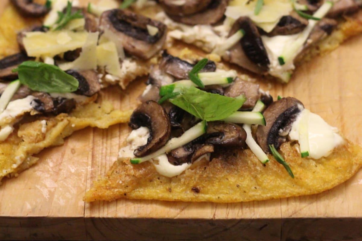 Mushroom Polenta Flatbreads