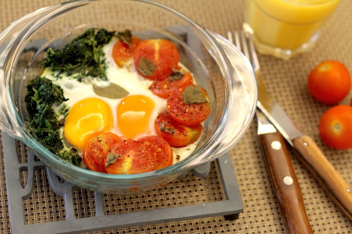 Breakfast in One Pan: Eggs in a Pan