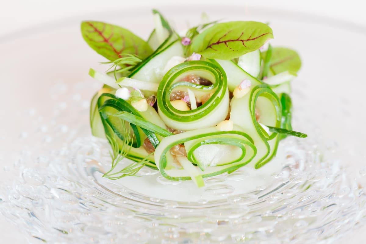 Tuna Tartare with Cucumber and Apple [Magazine Feature]