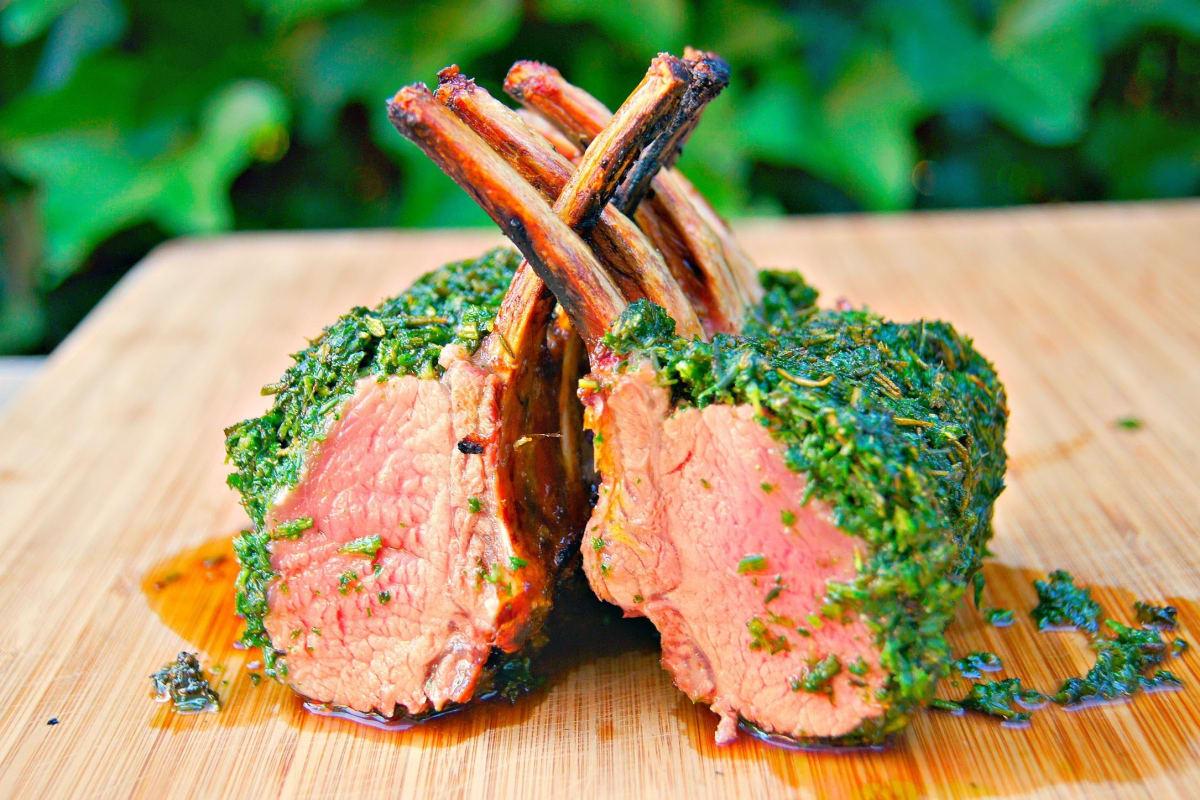 Herb Crusted Lamb Rack Recipe