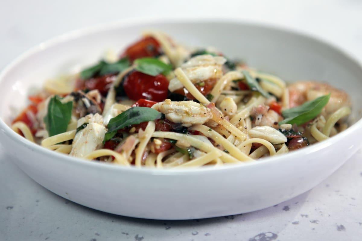 Tonight's Recipe: Shrimp and Brie Linguine