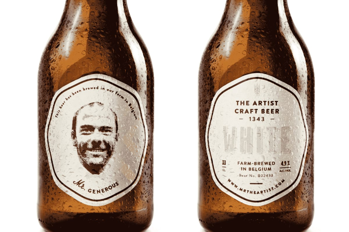 GIVEAWAY: Customised Beer from The Artist