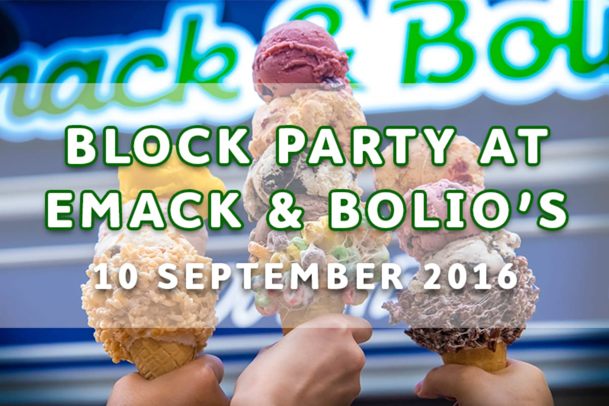 Block Party at Emack & Bolio's