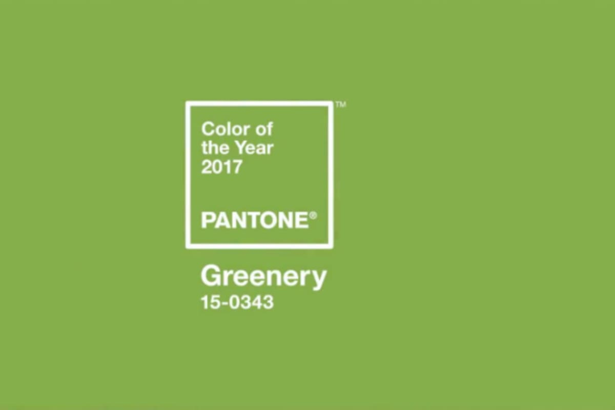 Pantone's Colour of the Year: Greenery