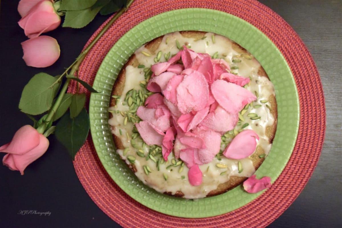 Recipe: Pistachio Rose Water Lime Cake