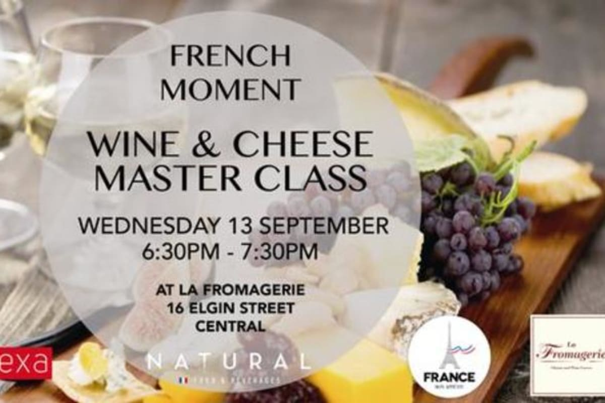 French Moment: Wine & Cheese Masterclass (13 September)