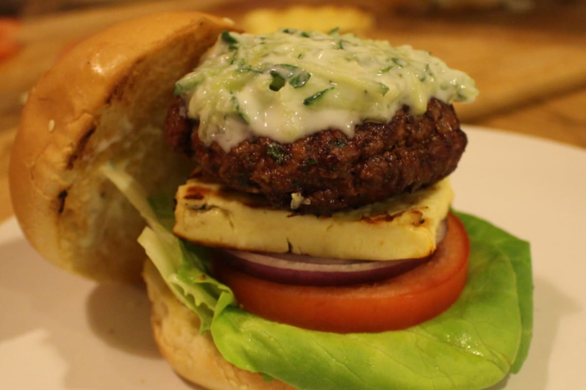 Recipe: Minted Lamb Burgers with Tzatziki