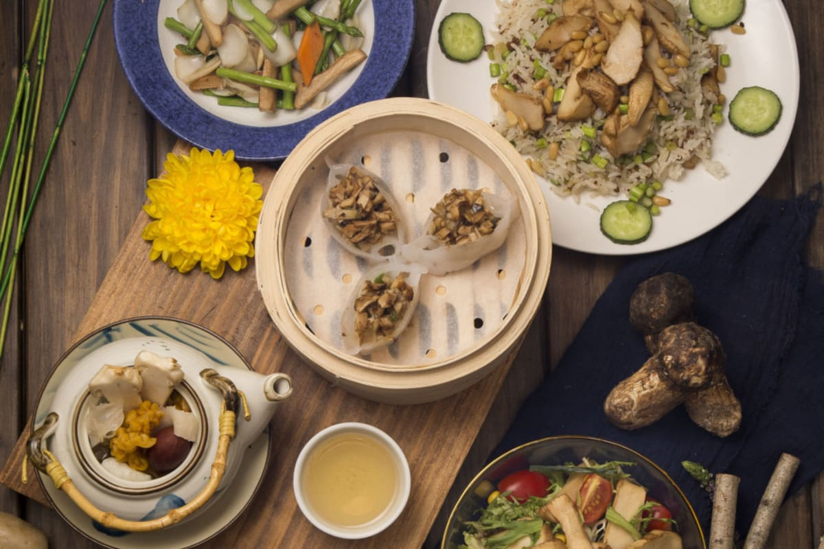 New Menu: Seasonal Matsutake Menu at Pure Veggie House