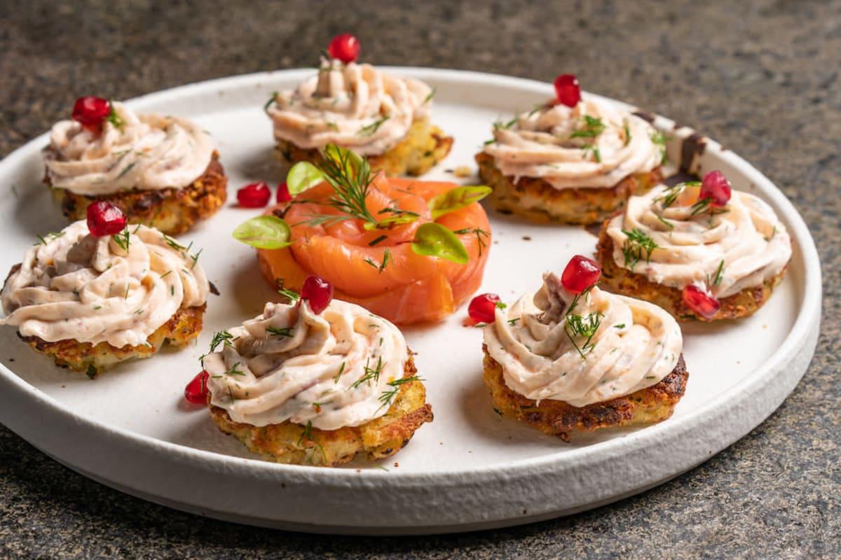 Recipe: Smoked Salmon Mousse in Parmesan Potatoes
