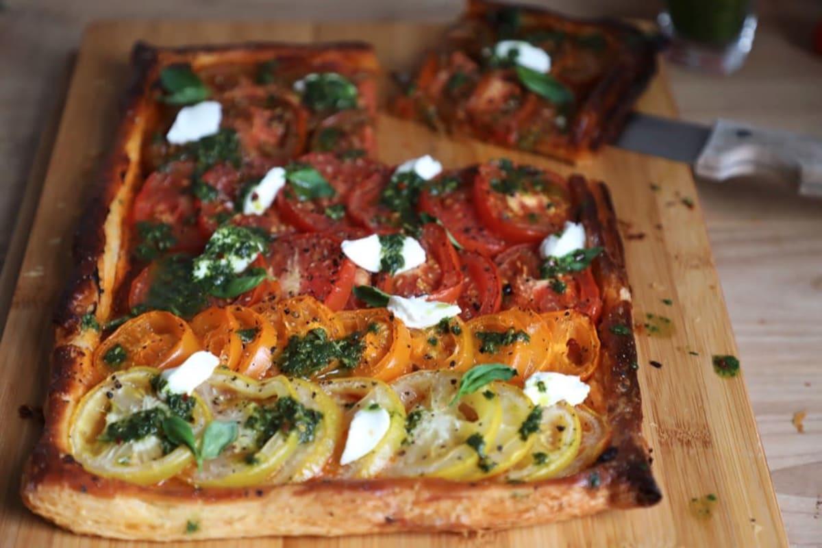 Recipe: Rainbow Tomato Tart