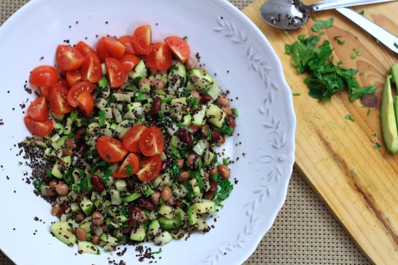Black Quinoa and Bean Salad
