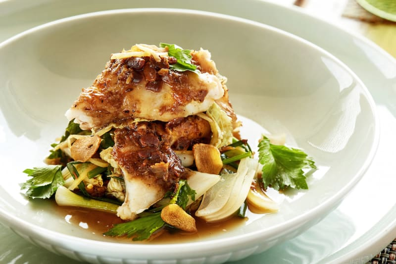 RECIPE: Grouper with Ginger and Asian Celery