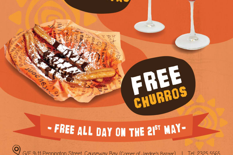 Free Churros and Margaritas Today