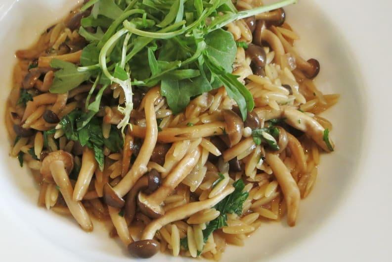 One Pot Mushroom Orzo Risotto