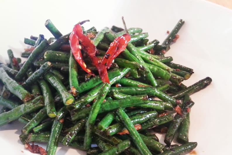 Sichuan Stir-Fried Green Beans