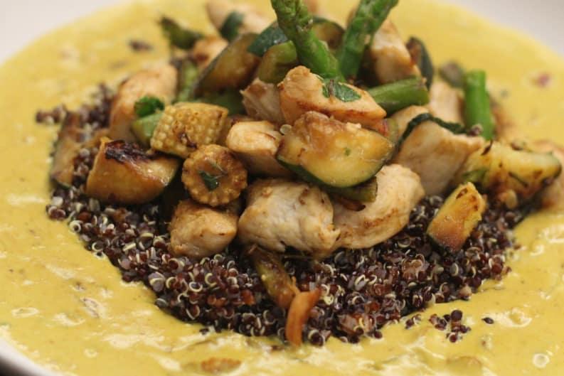 Tri-Colour Quinoa Chicken Curry