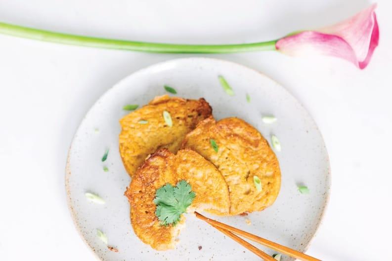 Kimchi Mung Bean Pancakes Recipe