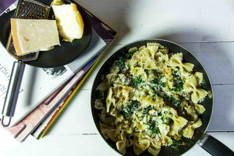 Artichoke, Spinach & Cheese Pasta Recipe