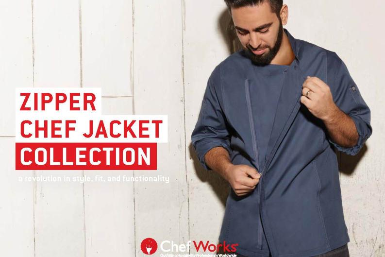 Revolutionary Zipper Chef Coat