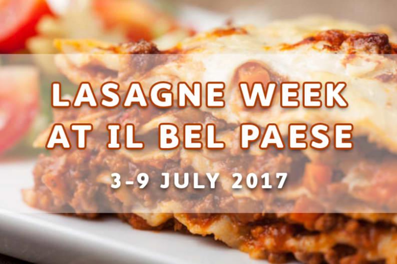 Lasagne Week at ilBelPaese