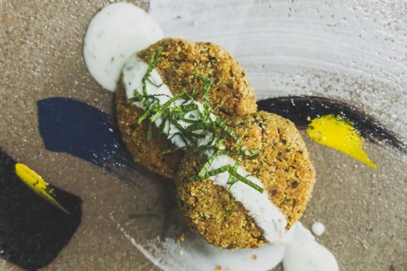 Recipe: Fava-and-Quinoa Falafel with Yoghurt Dressing