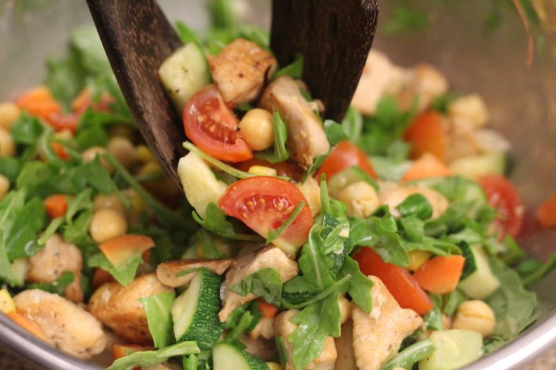 Grilled Chicken Bean Salad