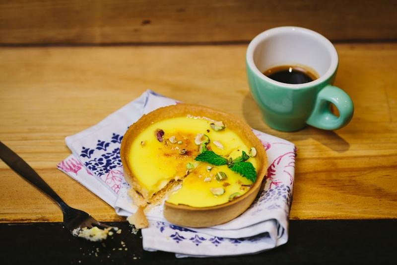 Brulee Lemon Tart with Pistachio