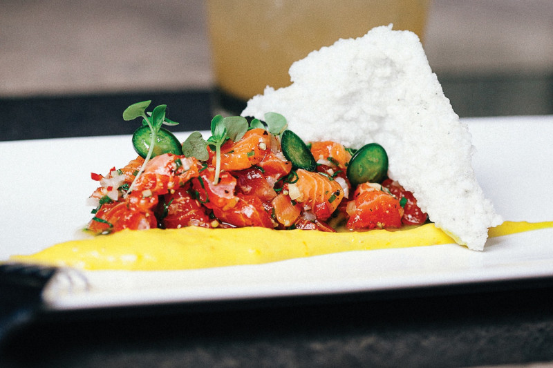Tasmanian Trout Tartare with Garlic Mayo